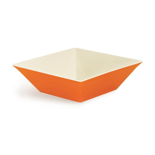"GET ML-249-ST 16"" Square Serving Bowl w/ 12.8-qt Capacity, Melamine, Orange"