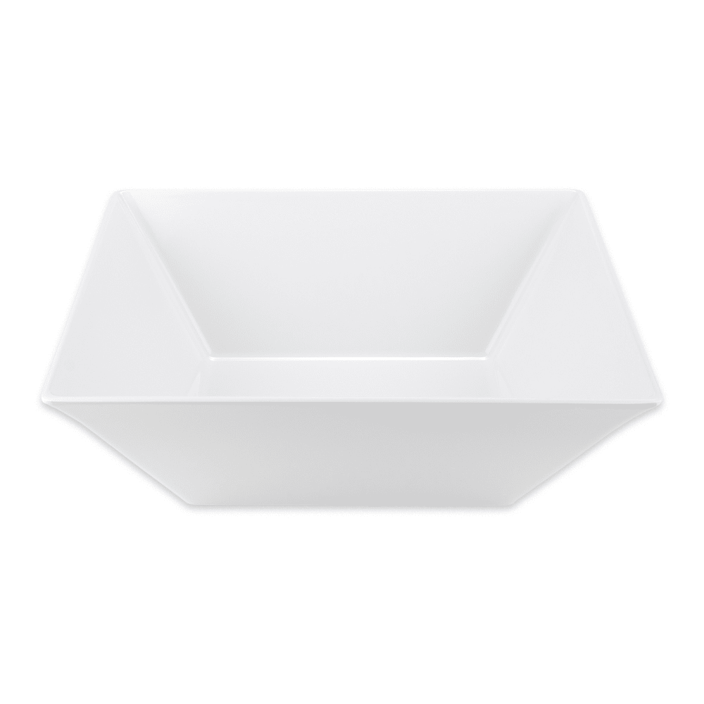 "GET ML-249-W 16"" Square Serving Bowl w/ 12.8 qt Capacity, Melamine, White"