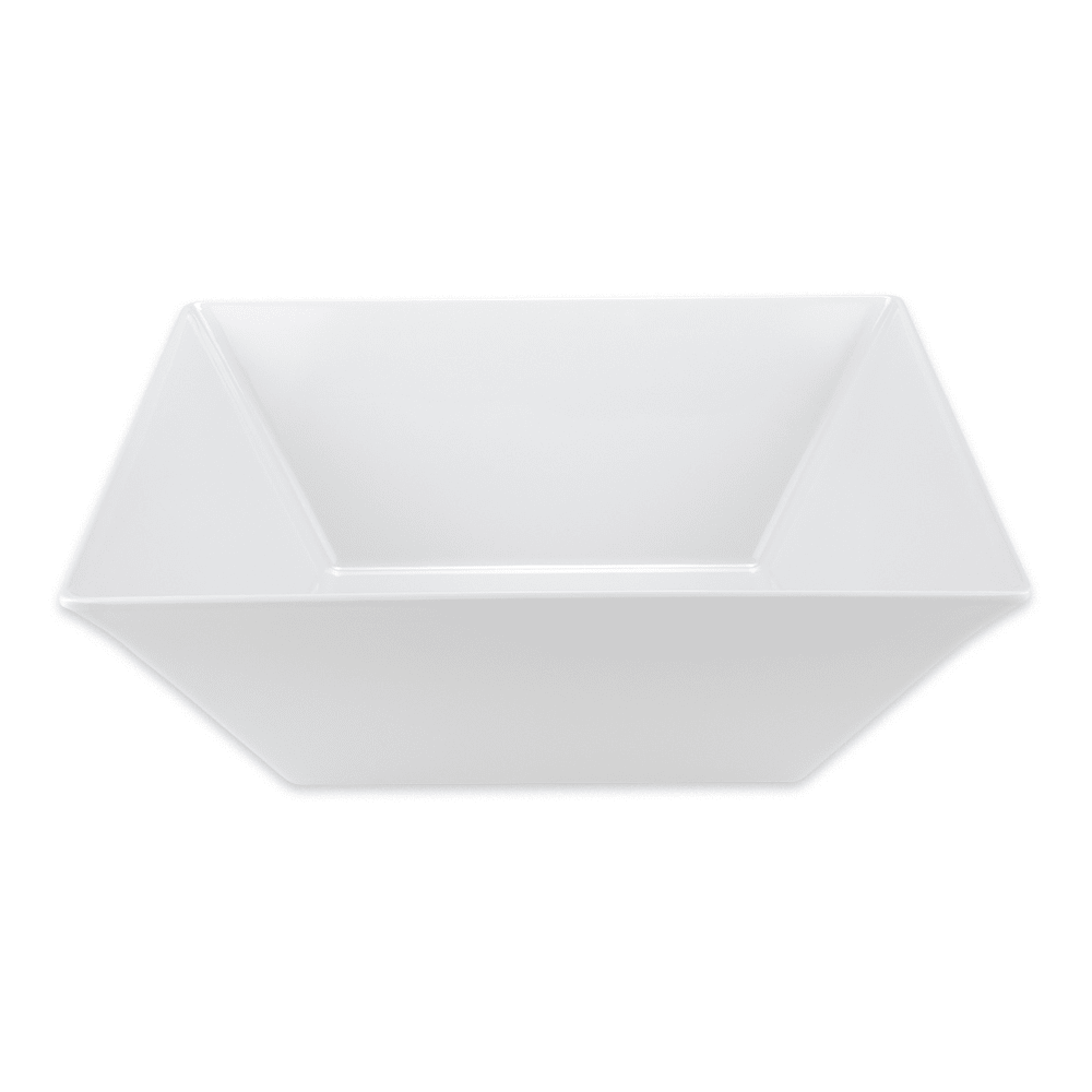 "GET ML-250-W 17.75"" Square Serving Bowl w/ 20.4 qt Capacity, Melamine, White"
