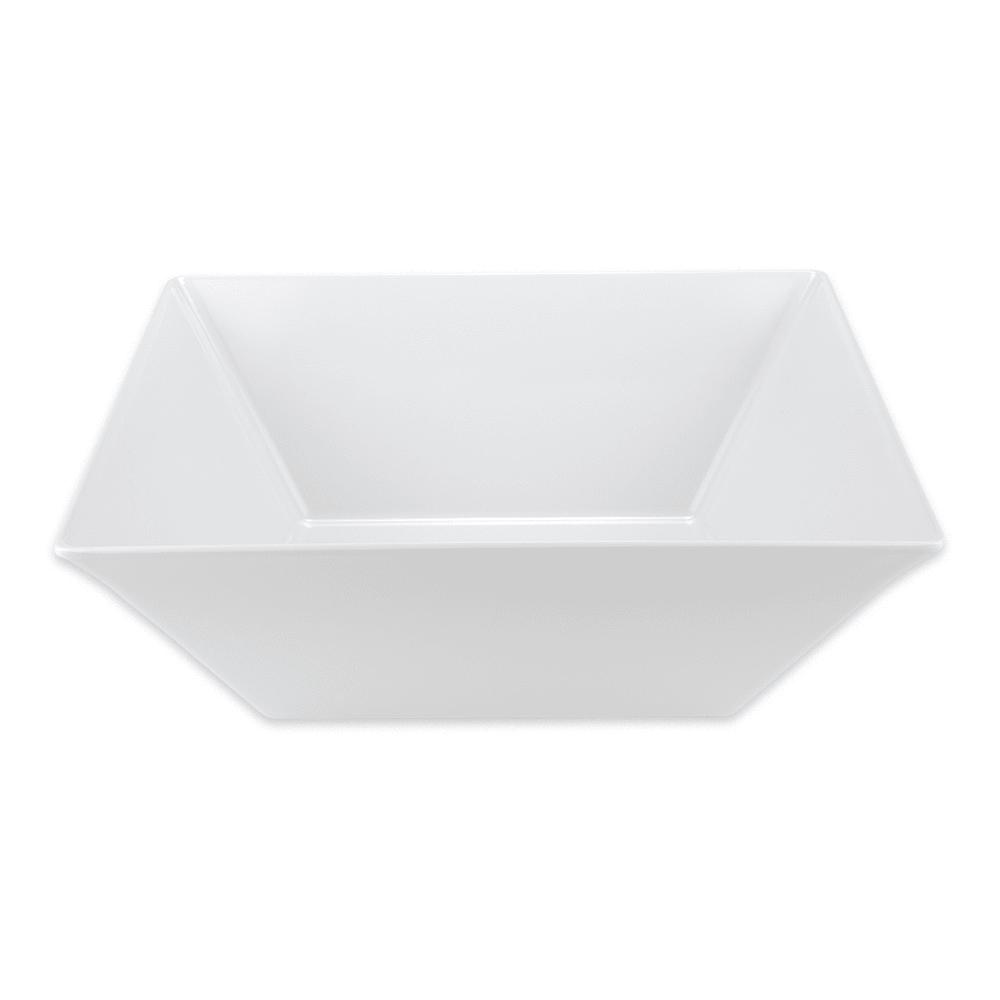 "GET ML-250-W 17.75"" Square Serving Bowl w/ 20.4-qt Capacity, Melamine, White"