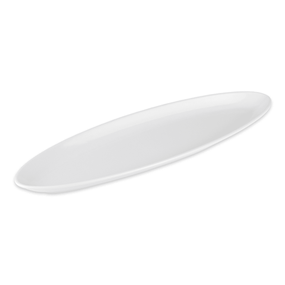 "GET ML-252-W Oval Serving Platter, 16"" x 5"", Melamine, White"