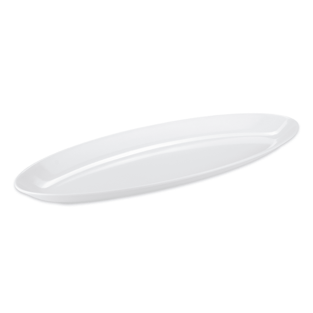 "GET ML-255-W Oval Serving Platter, 27"" x 10"", Melamine, White"