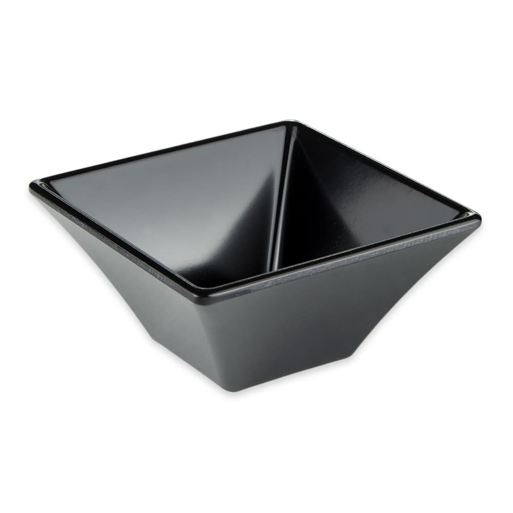 "GET ML-278-BK 4"" Square Salad Bowl w/ 8 oz Capacity, Melamine, Black"