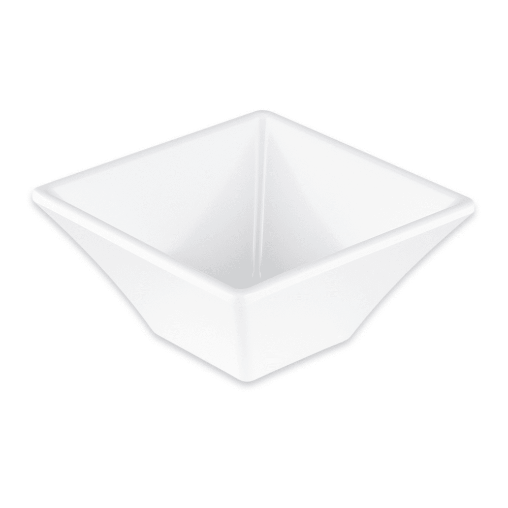 "GET ML-278-W 4"" Square Salad Bowl w/ 8-oz Capacity, Melamine, White"
