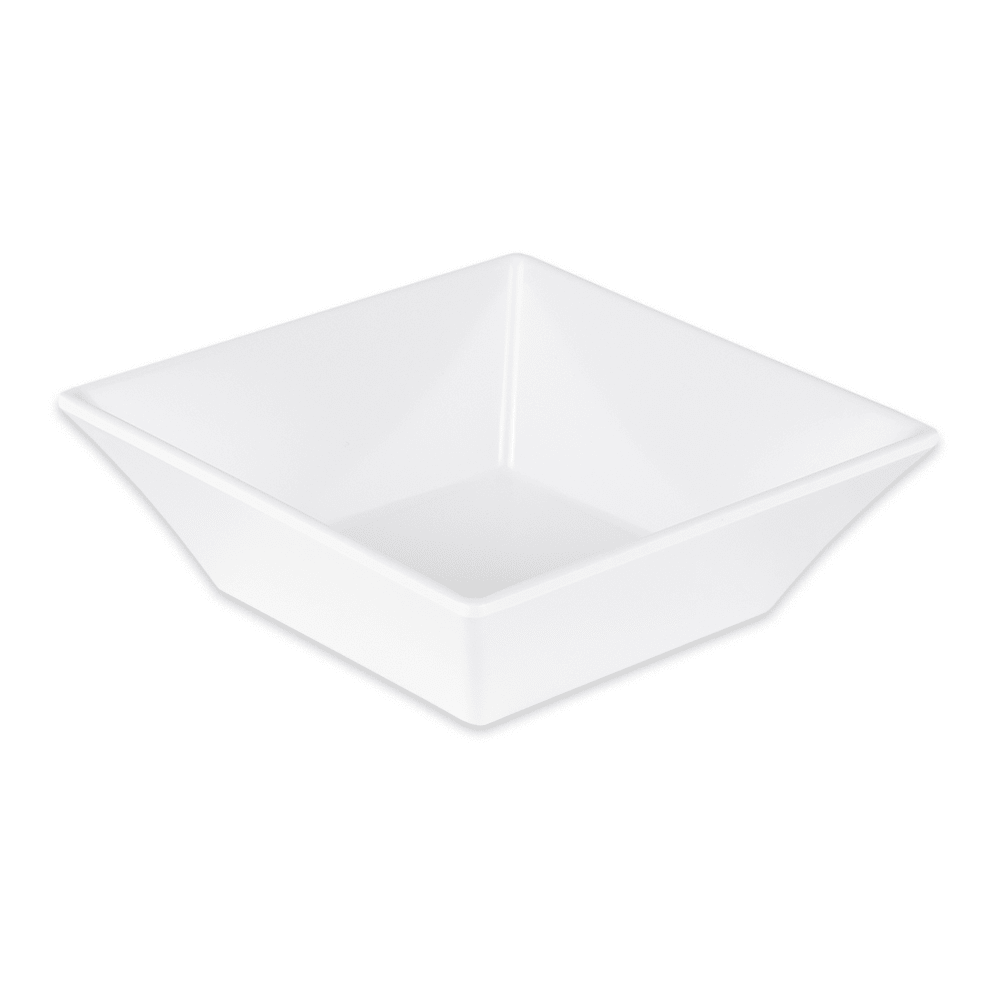 "GET ML-279-W 6"" Square Salad Bowl w/ 23-oz Capacity, Melamine, Black"