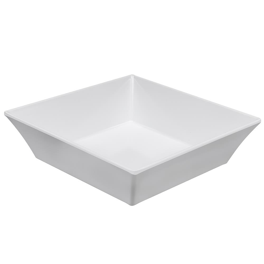 "GET ML-281-W 9"" Square Pasta Bowl w/ 2.3-qt Capacity, Melamine, White"