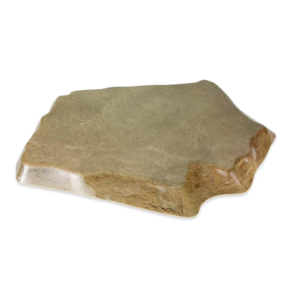 "GET ML-282-SLATE Stone-Shaped Display Tray, 14"" x 13"", Melamine, Slate"