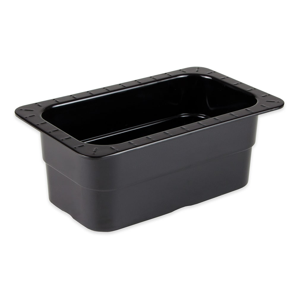 GET ML-28-BK 1/4-Size Food Pan, Melamine, Black