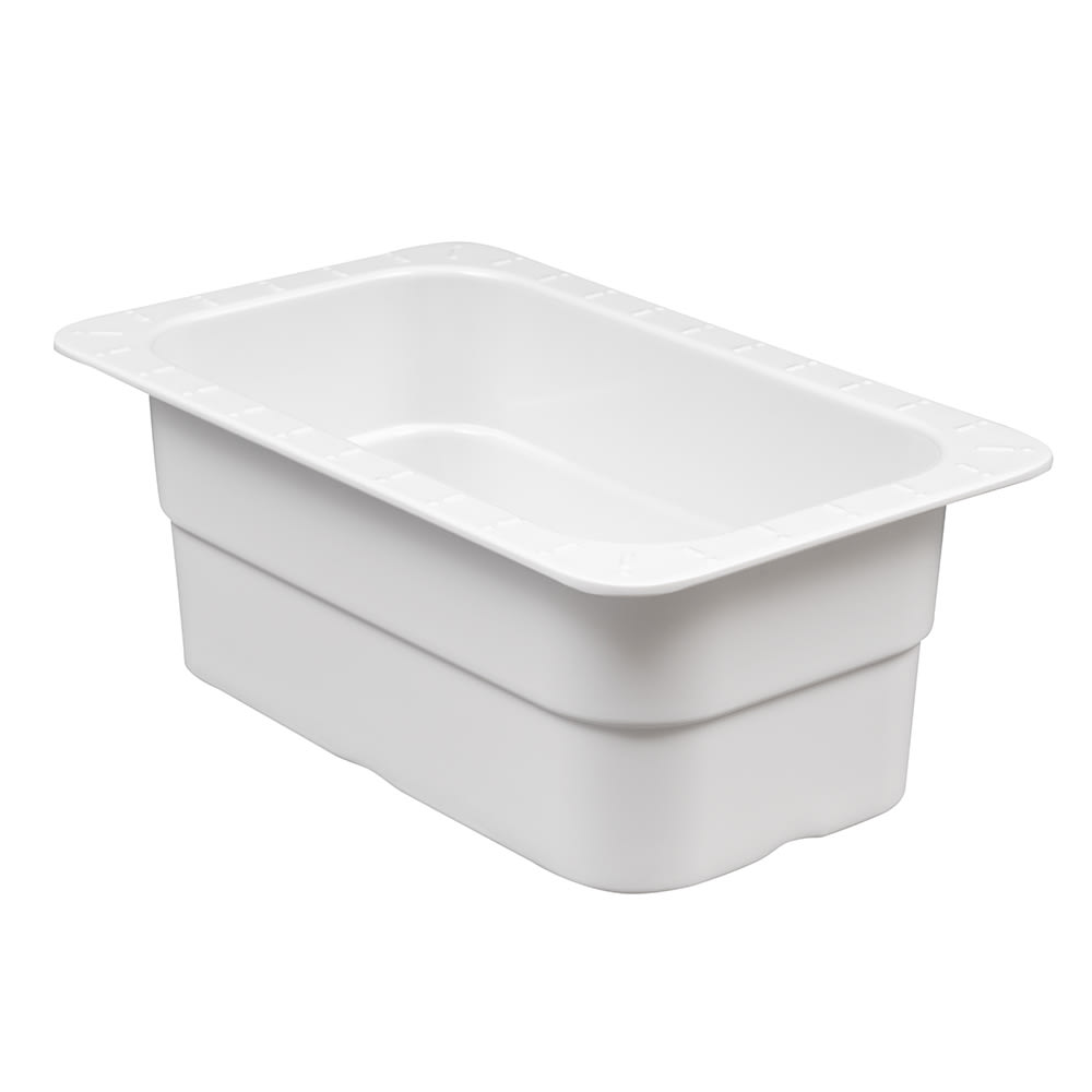 GET ML-28-W 1/4-Size Food Pan, Melamine, White