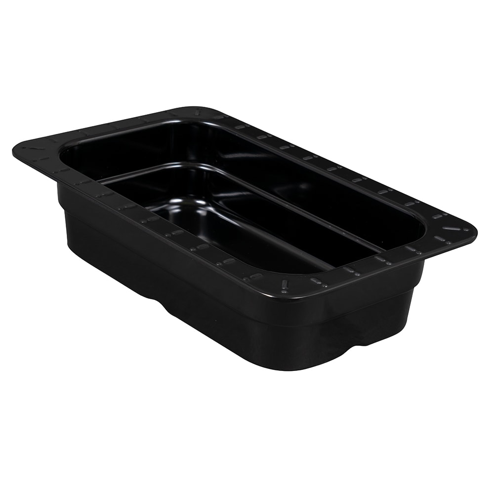 GET ML-29-BK 1/4-Size Food Pan, Melamine, Black