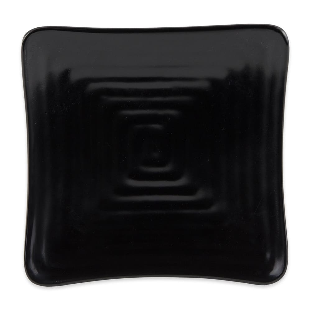 "GET ML-60-BK 6"" Square Salad Plate, Melamine, Black"