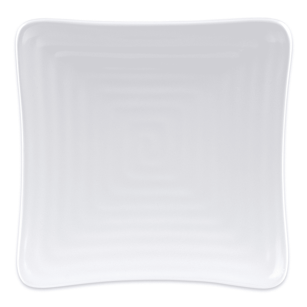 "GET ML-60-W 6"" Square Salad Plate, Melamine, White"