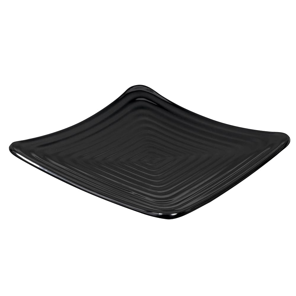"GET ML-61-BK 7.25"" Square Salad Plate, Melamine, Black"
