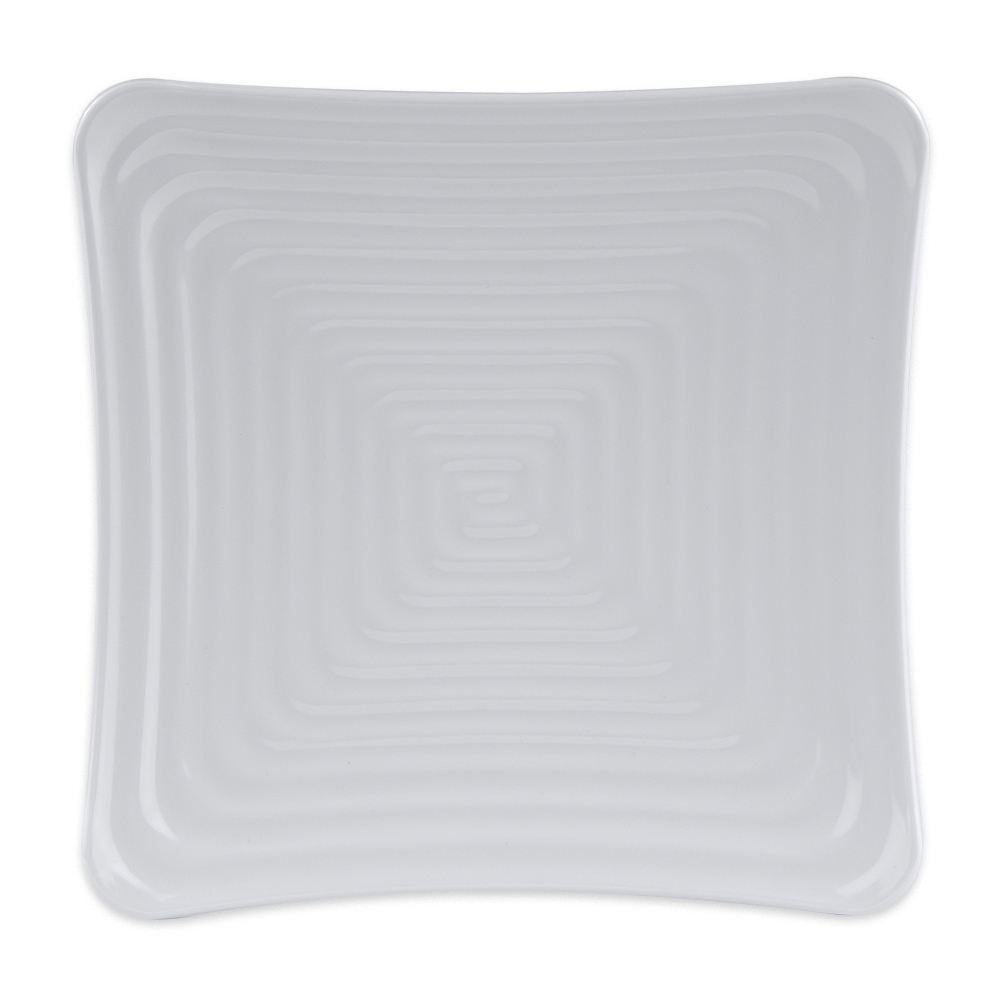 "GET ML-61-W 7.25"" Square Salad Plate, Melamine, White"