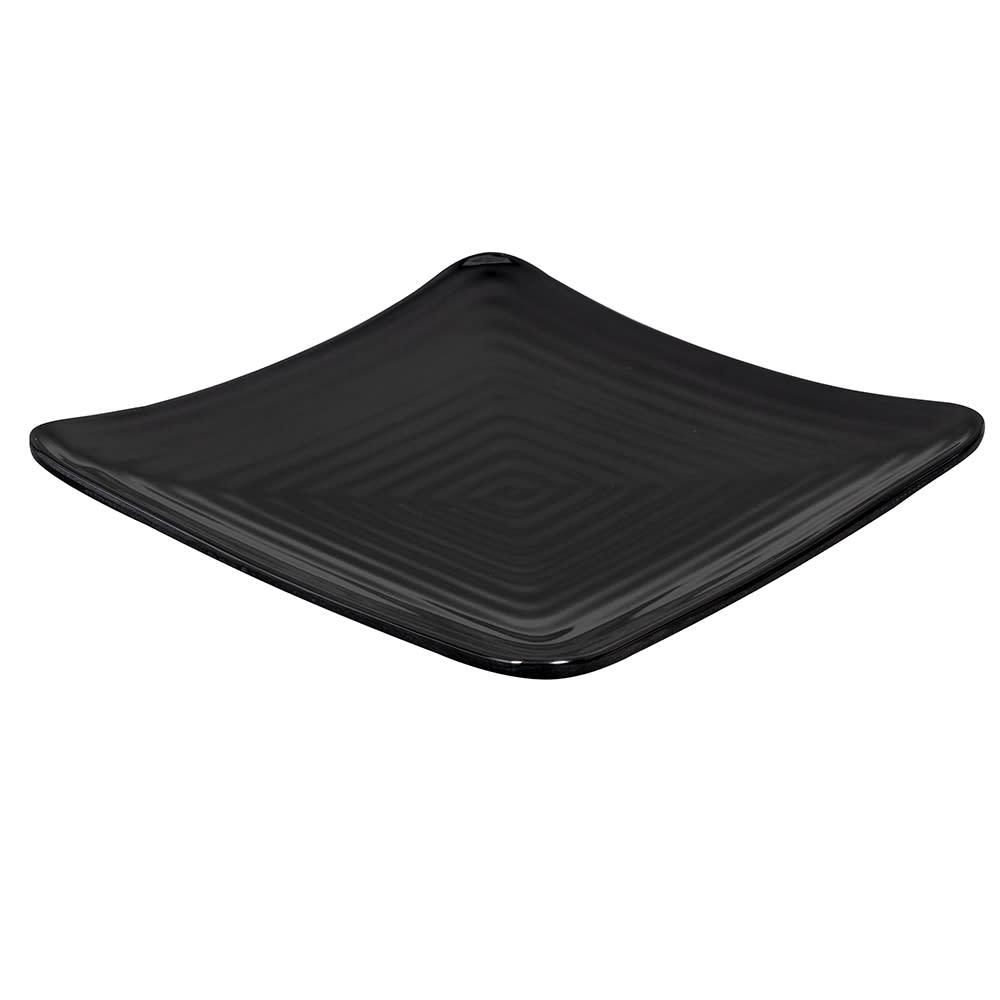 """GET ML-62-BK 8.75"""" Square Dessert Plate, Melamine, Black"""