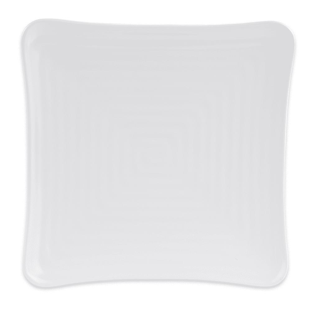 "GET ML-62-W 8.75"" Square Dessert Plate, Melamine, White"