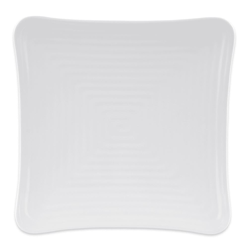 """GET ML-63-W 10.25"""" Square Dinner Plate, Melamine, White"""