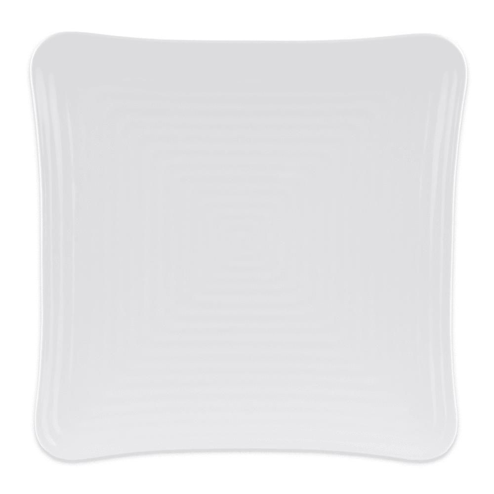 """GET ML-65-W 13.75"""" Square Dinner Plate, Melamine, White"""