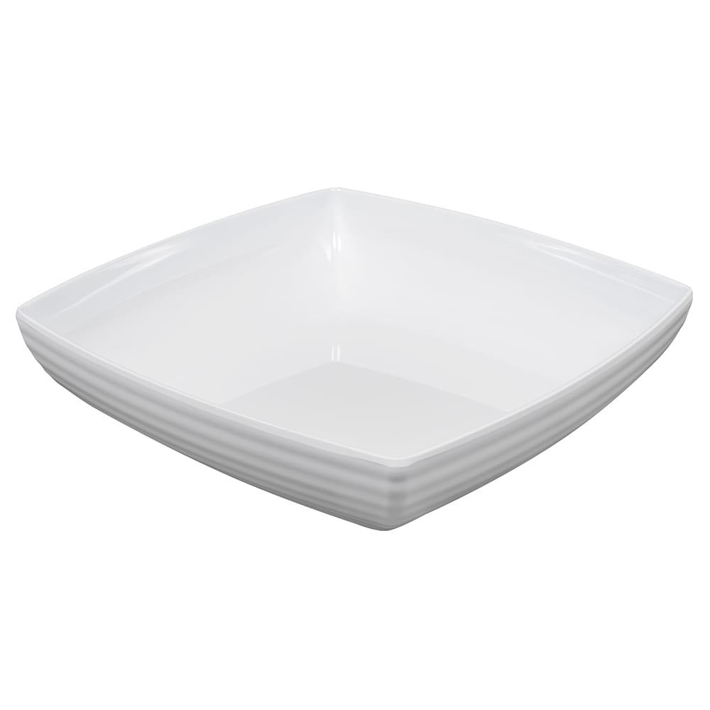 "GET ML-69-W 11.75"" Square Serving Bowl w/ 4 qt Capacity, Melamine, White"