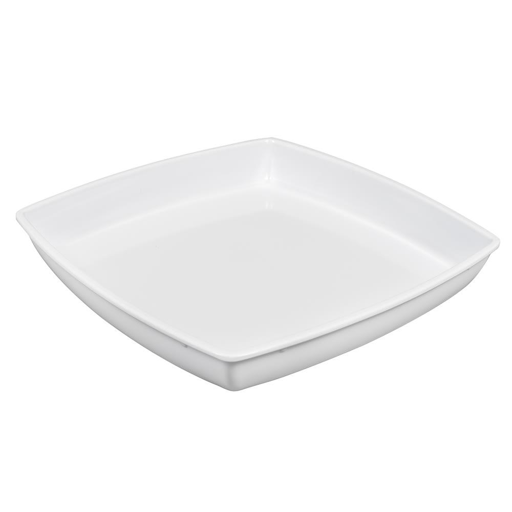 "GET ML-70-W 11.75"" Square Bowl Insert for ML-69 w/ 2-qt Capacity, Melamine, White"