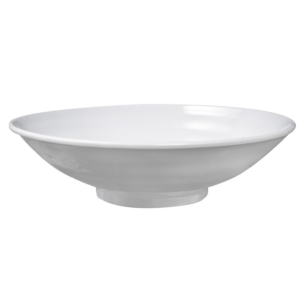 "GET ML-73-W 10"" Round Pasta Bowl w/ 2 qt Capacity, Melamine, White"