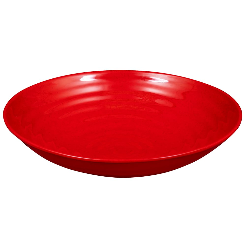 "GET ML-75-RSP 13.25"" Round Serving Bowl w/ 4-qt Capacity, Melamine, Red"