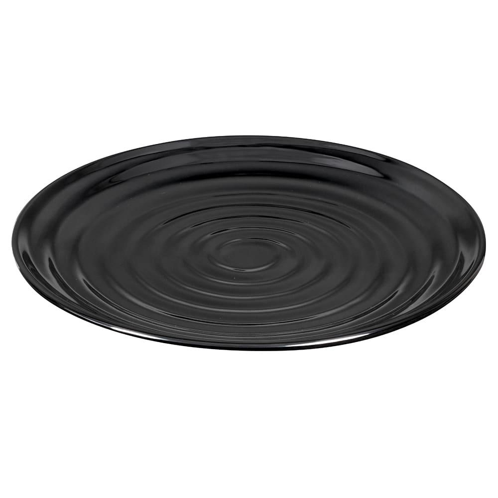 "GET ML-82-BK 10.25"" Round Dinner Plate, Melamine, Black"