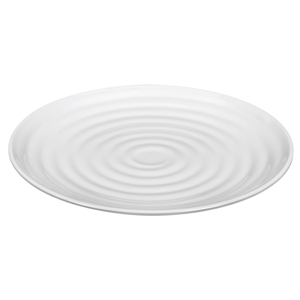 "GET ML-82-W 10.25"" Round Dinner Plate, Melamine, White"