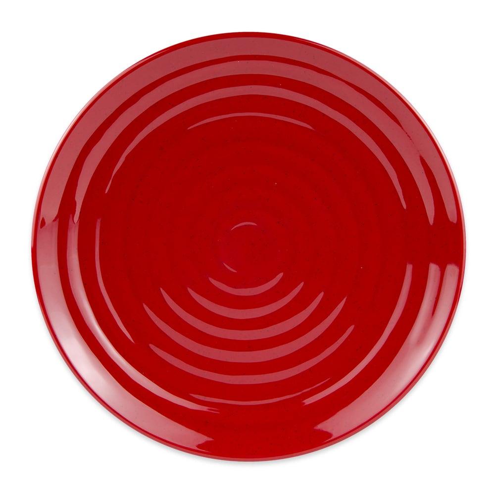"GET ML-83-RSP 12.5"" Round Dinner Plate, Melamine, Red"
