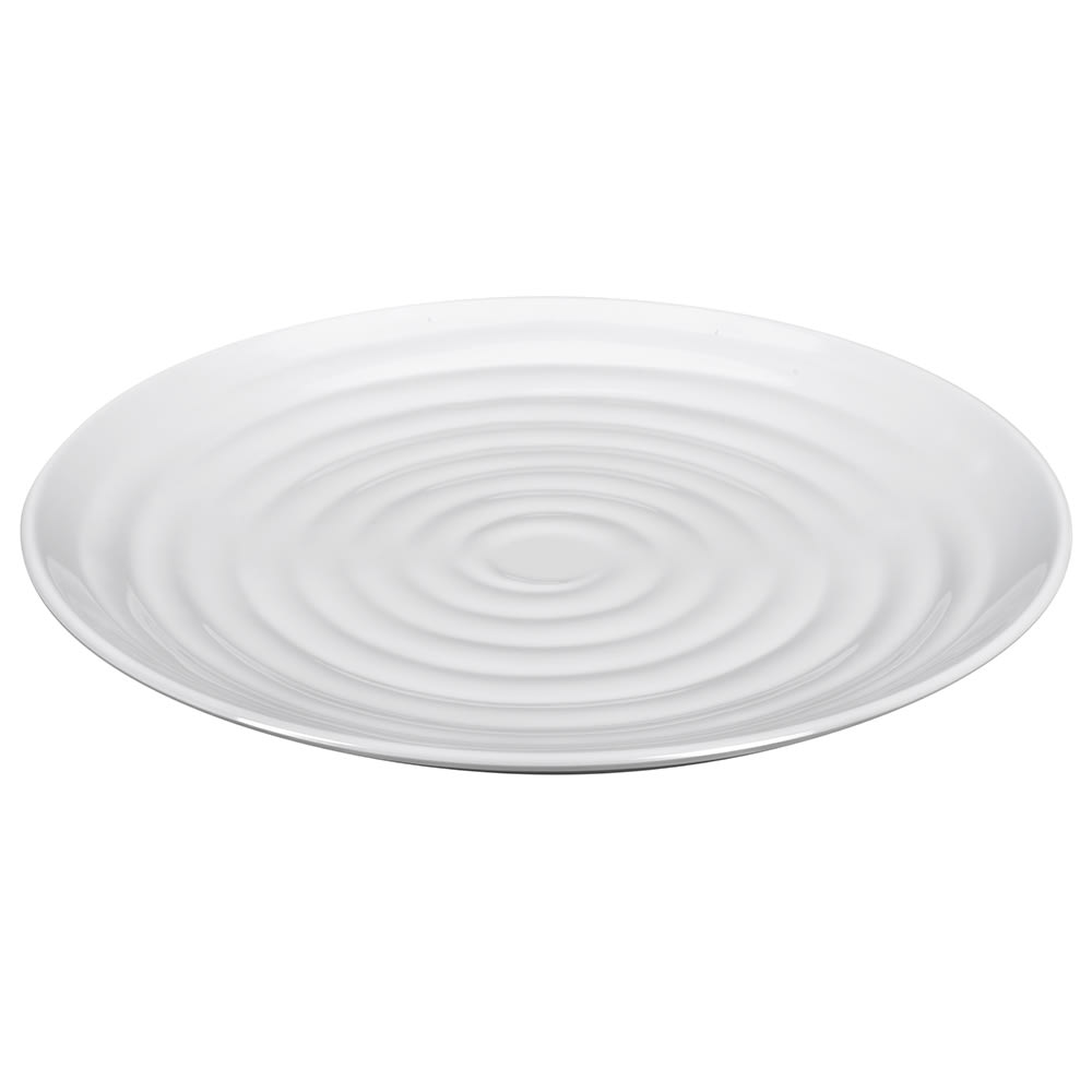 "GET ML-83-W 12.5"" Round Dinner Plate, Melamine, White"