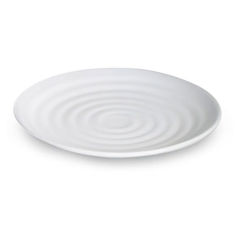 "GET ML-84-W 15"" Round Dinner Plate, Melamine, White"