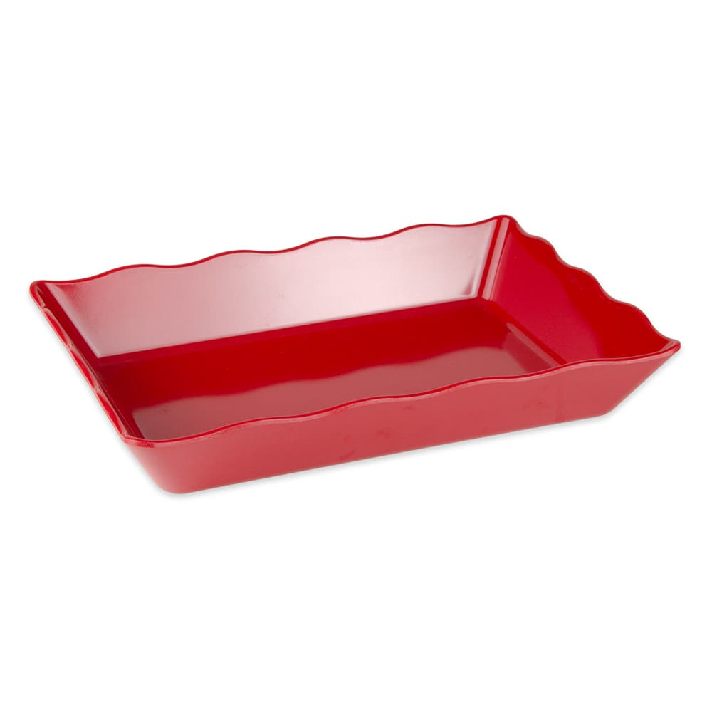 "GET ML-88-RSP Rectangular Display Tray, 13.75"" x 9.5"", Melamine, Red"