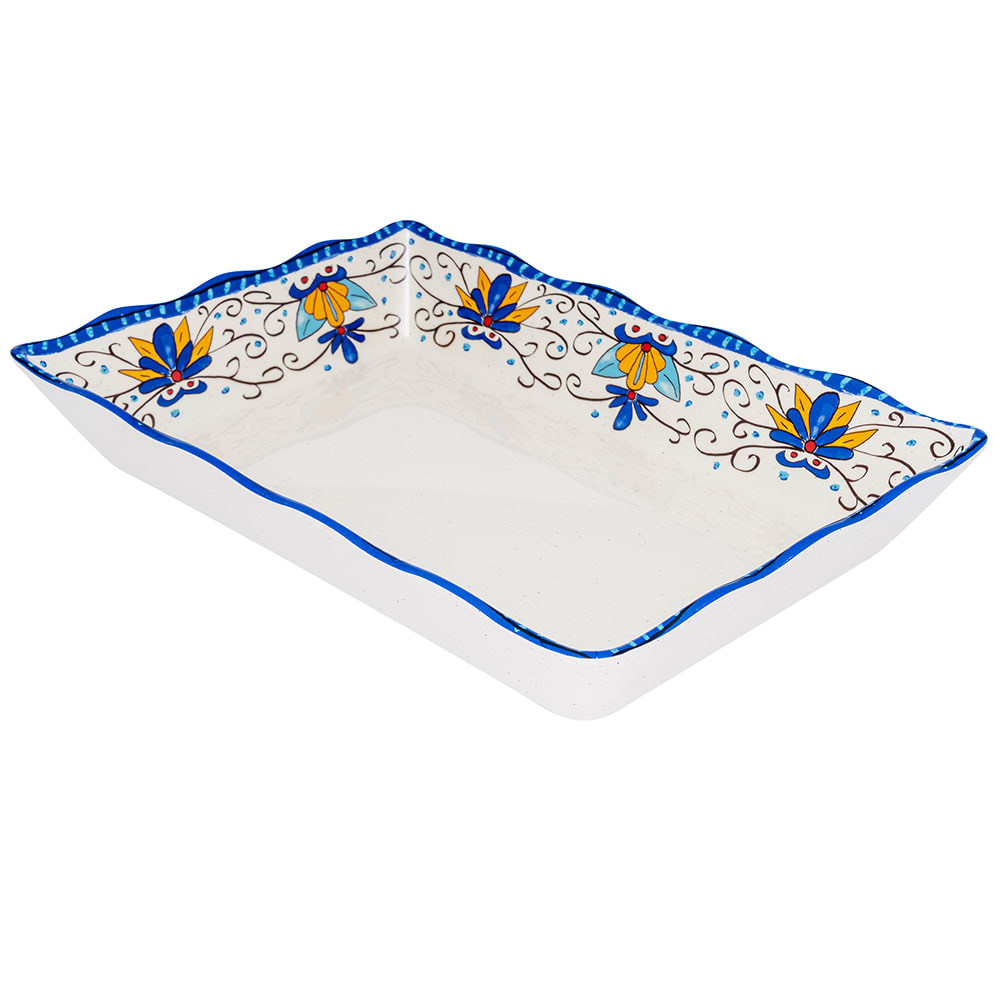 "GET ML-88-SL Rectangular Display Tray, 13.75"" x 9.5"", Melamine, White"