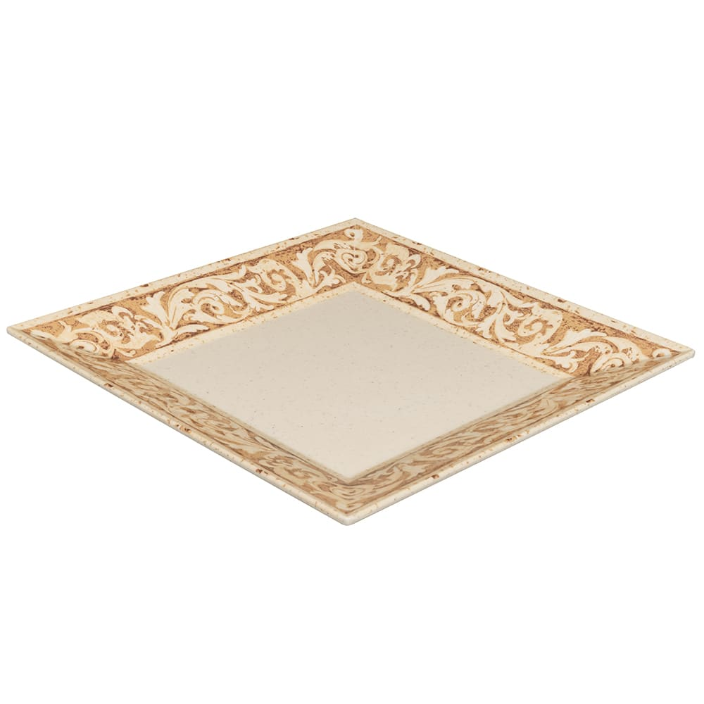 "GET ML-90-OL 12"" Square Dinner Plate, Melamine, Brown"