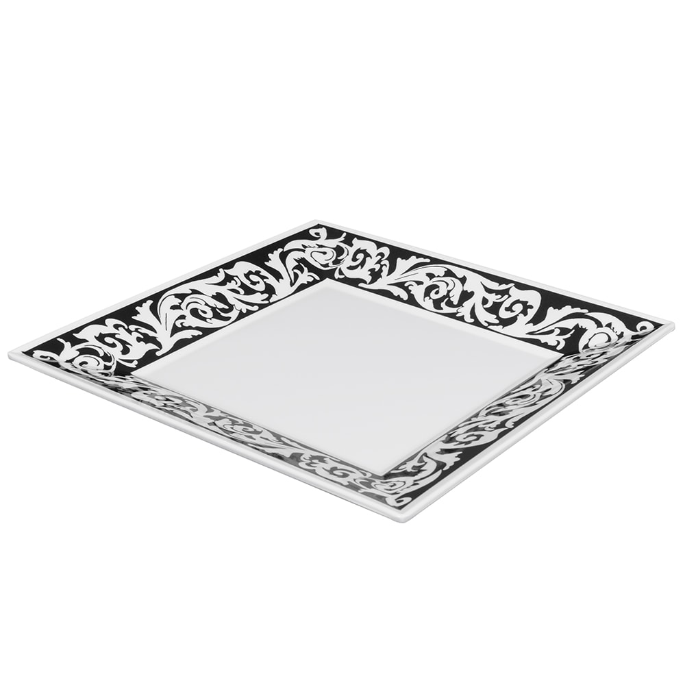 "GET ML-90-SO 12"" Square Dinner Plate, Melamine, White"