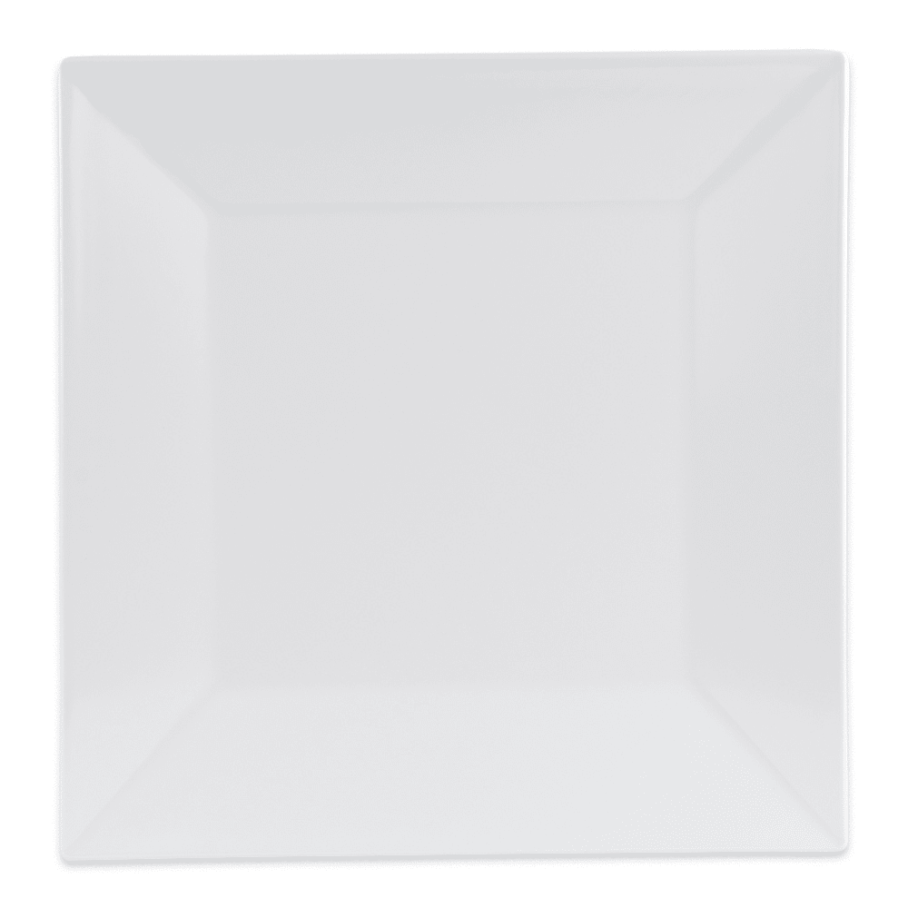 "GET ML-90-W 12"" Square Dinner Plate, Melamine, White"