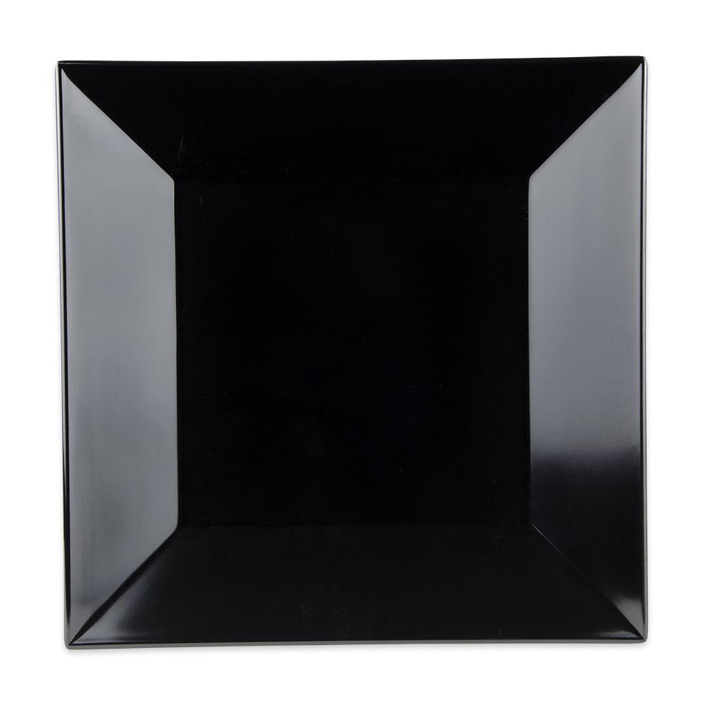 """GET ML-91-BK 14"""" Square Dinner Plate, Melamine, Black"""