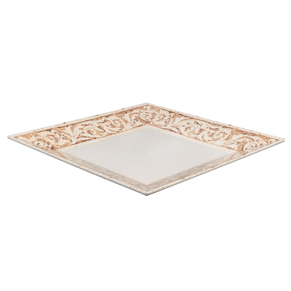 "GET ML-91-OL 14"" Square Dinner Plate, Melamine, Brown"