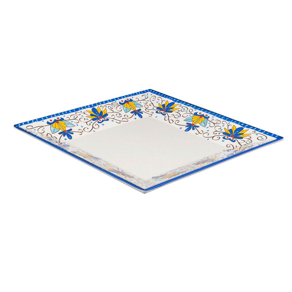 """GET ML-91-SL 14"""" Square Dinner Plate, Melamine, White"""
