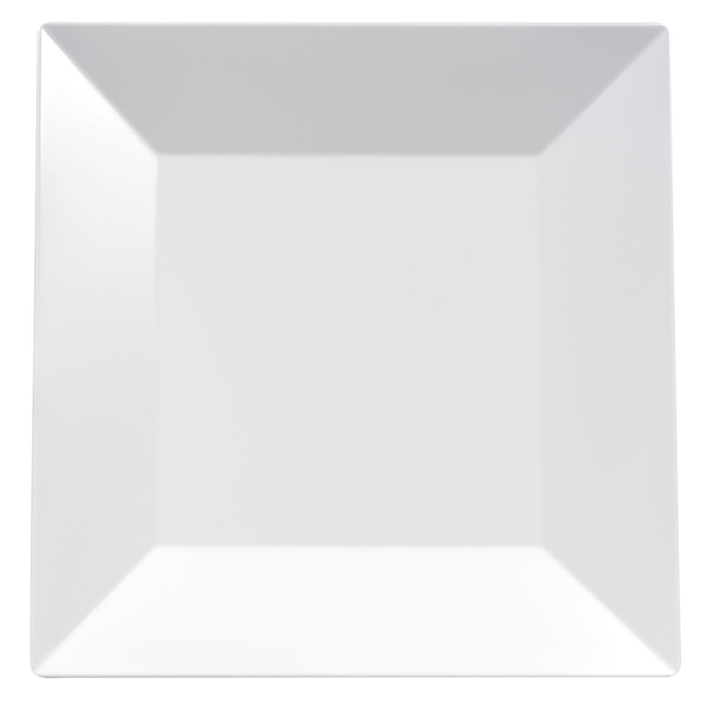 "GET ML-91-W 14"" Square Dinner Plate, Melamine, White"