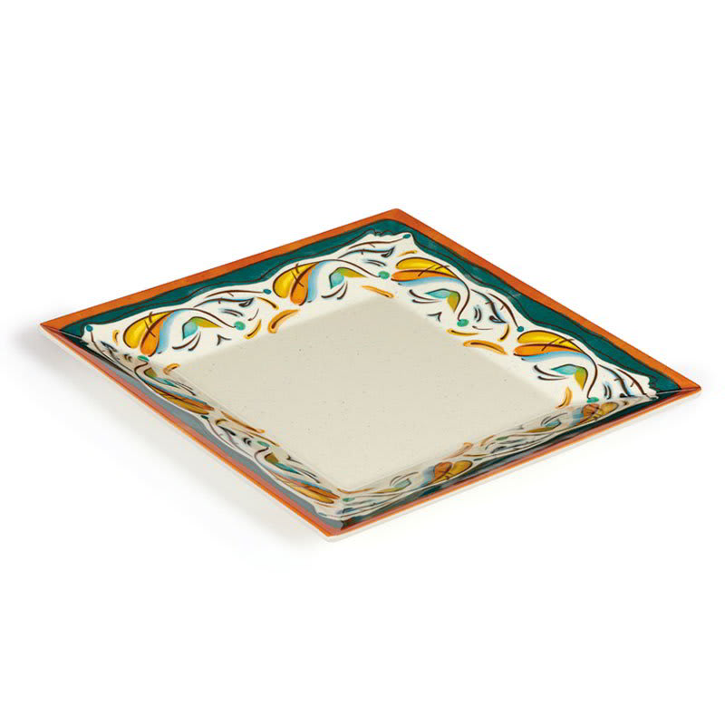 "GET ML-92-BF 16"" Square Dinner Plate, Melamine, White"