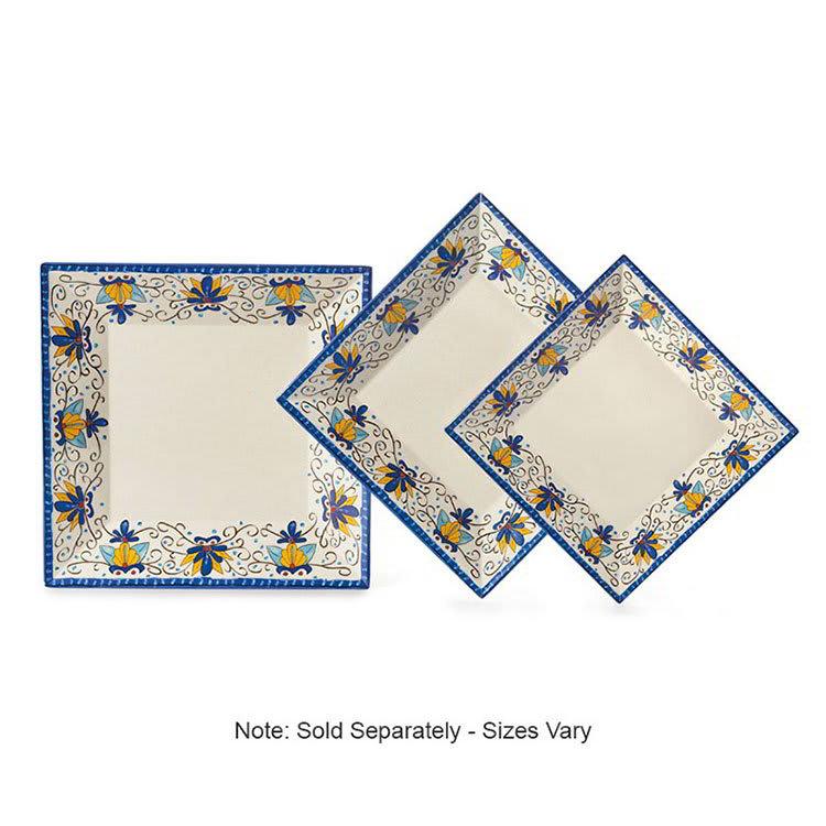 """GET ML-92-SL 16"""" Square Dinner Plate, Melamine, White"""
