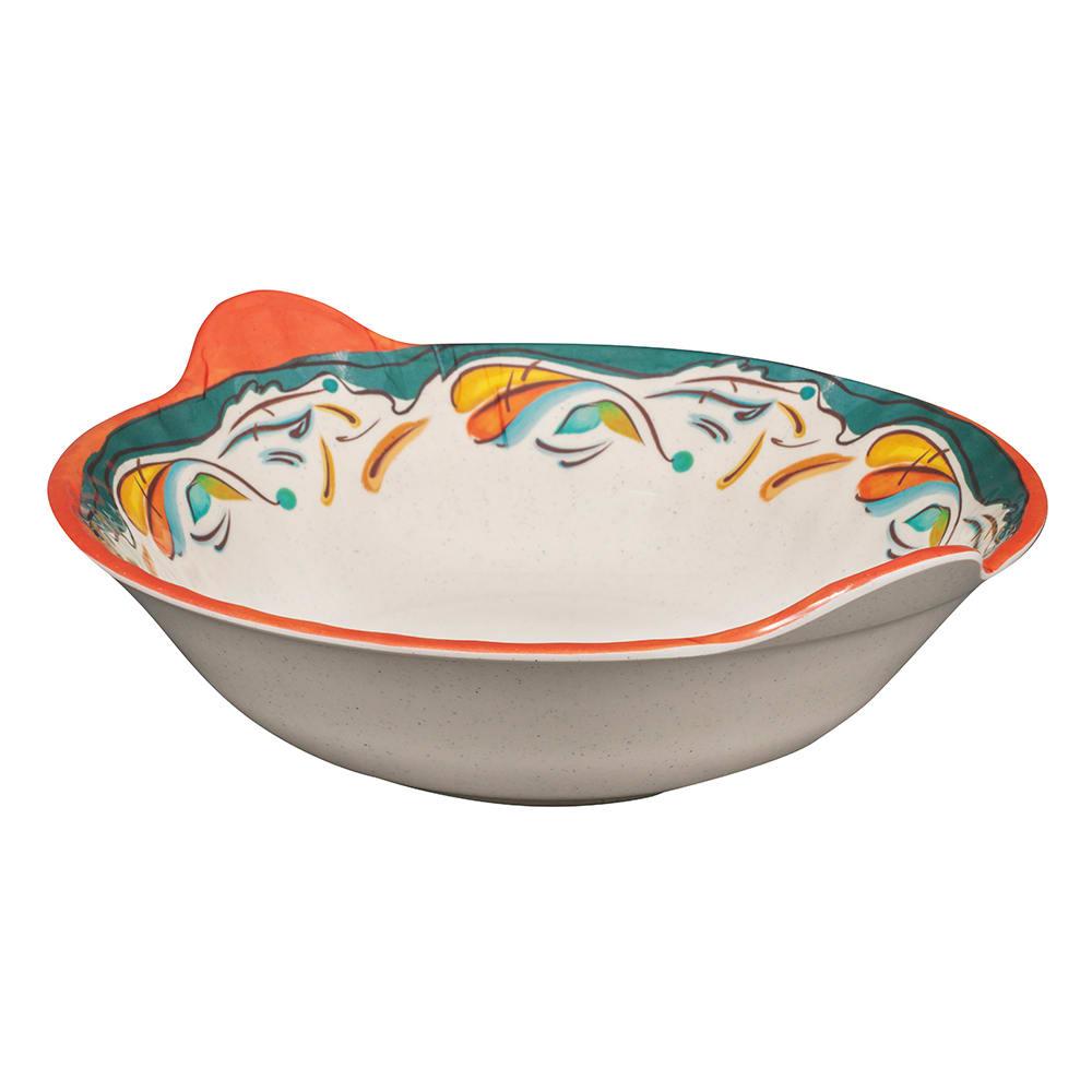 "GET ML-93-BF 12.5"" Round Pasta Bowl w/ 2-qt Capacity, Melamine, White"