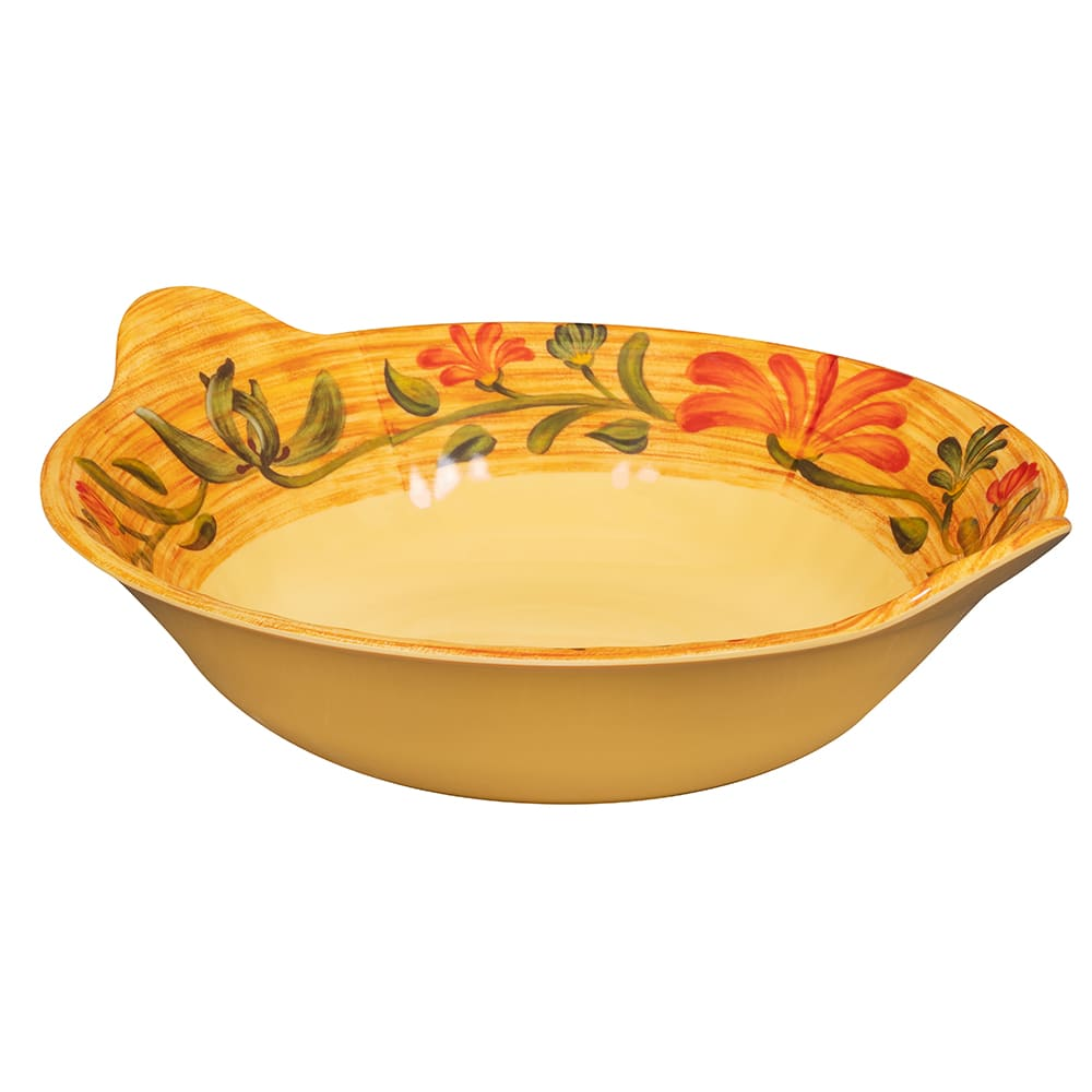 "GET ML-93-VN 12.5"" Round Pasta Bowl w/ 2 qt Capacity, Melamine, Yellow"