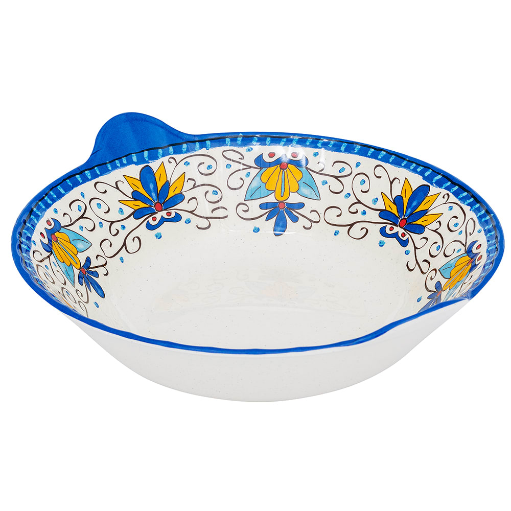 "GET ML-94-SL 13.5"" Round Serving Bowl w/ 3-qt Capacity, Melamine, White"