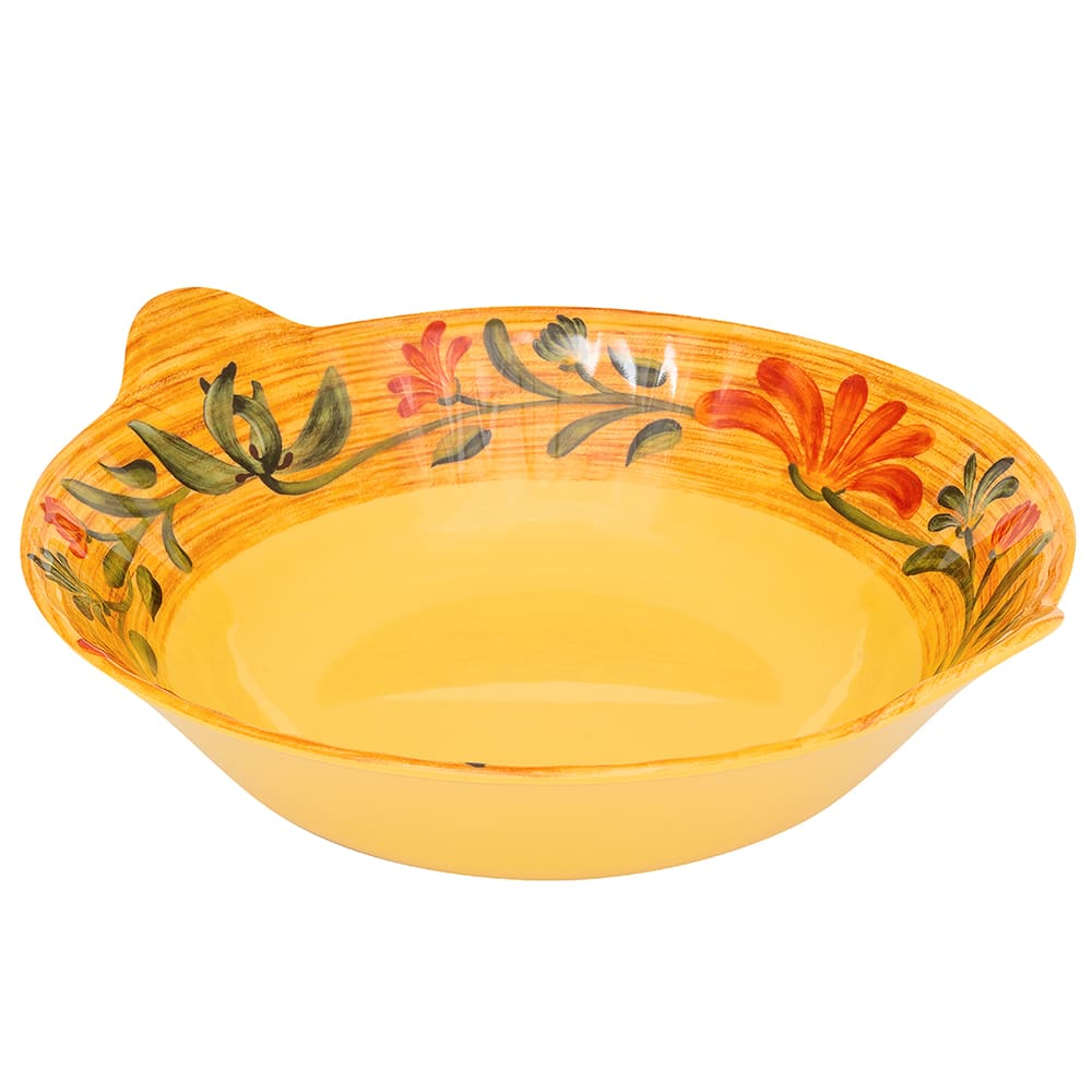 "GET ML-94-VN 13.5"" Round Serving Bowl w/ 3-qt Capacity, Melamine, Yellow"