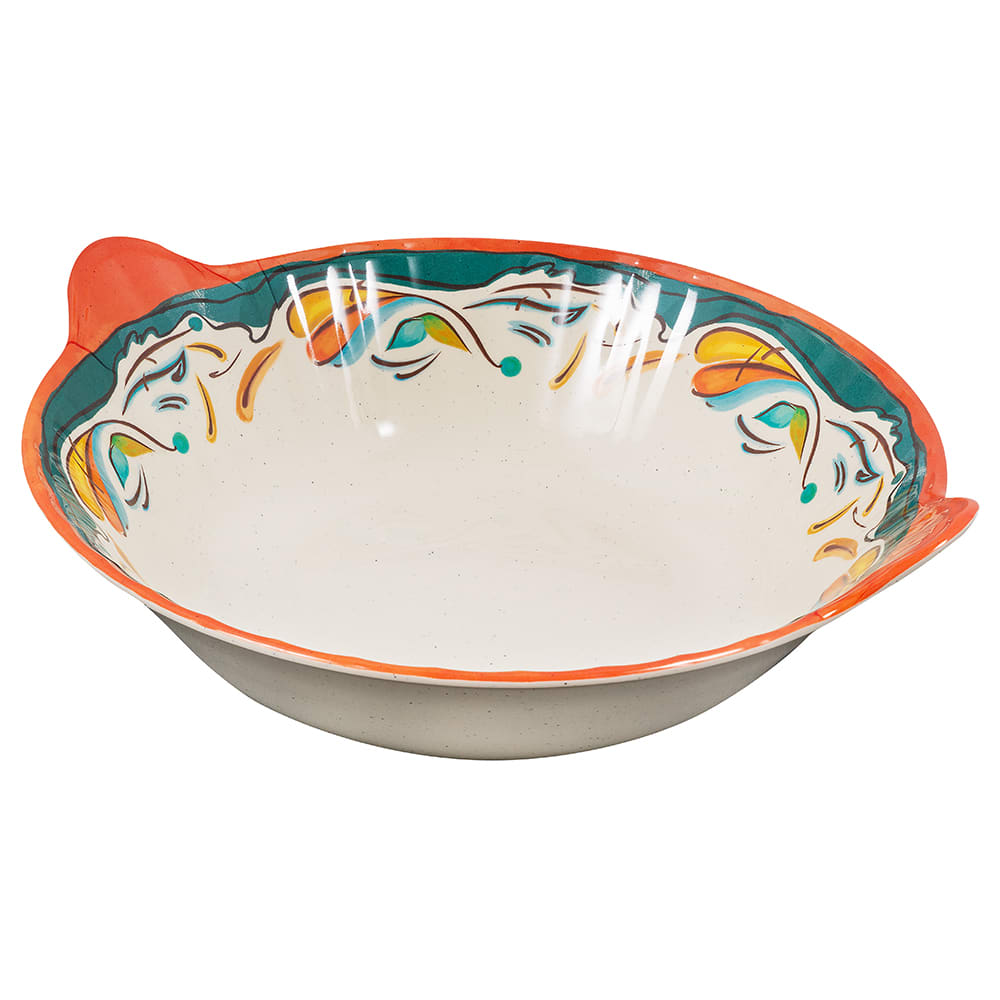 "GET ML-95-BF 14"" Round Serving Bowl w/ 4 qt Capacity, Melamine, White"