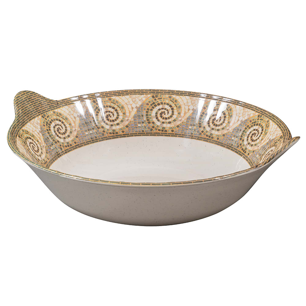 "GET ML-95-MO 14"" Round Serving Bowl w/ 4 qt Capacity, Melamine, Brown"