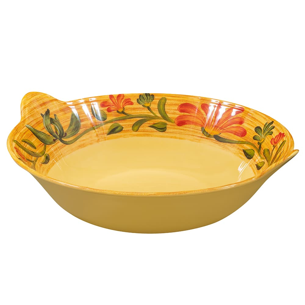 "GET ML-95-VN 14"" Round Serving Bowl w/ 4-qt Capacity, Melamine, Yellow"