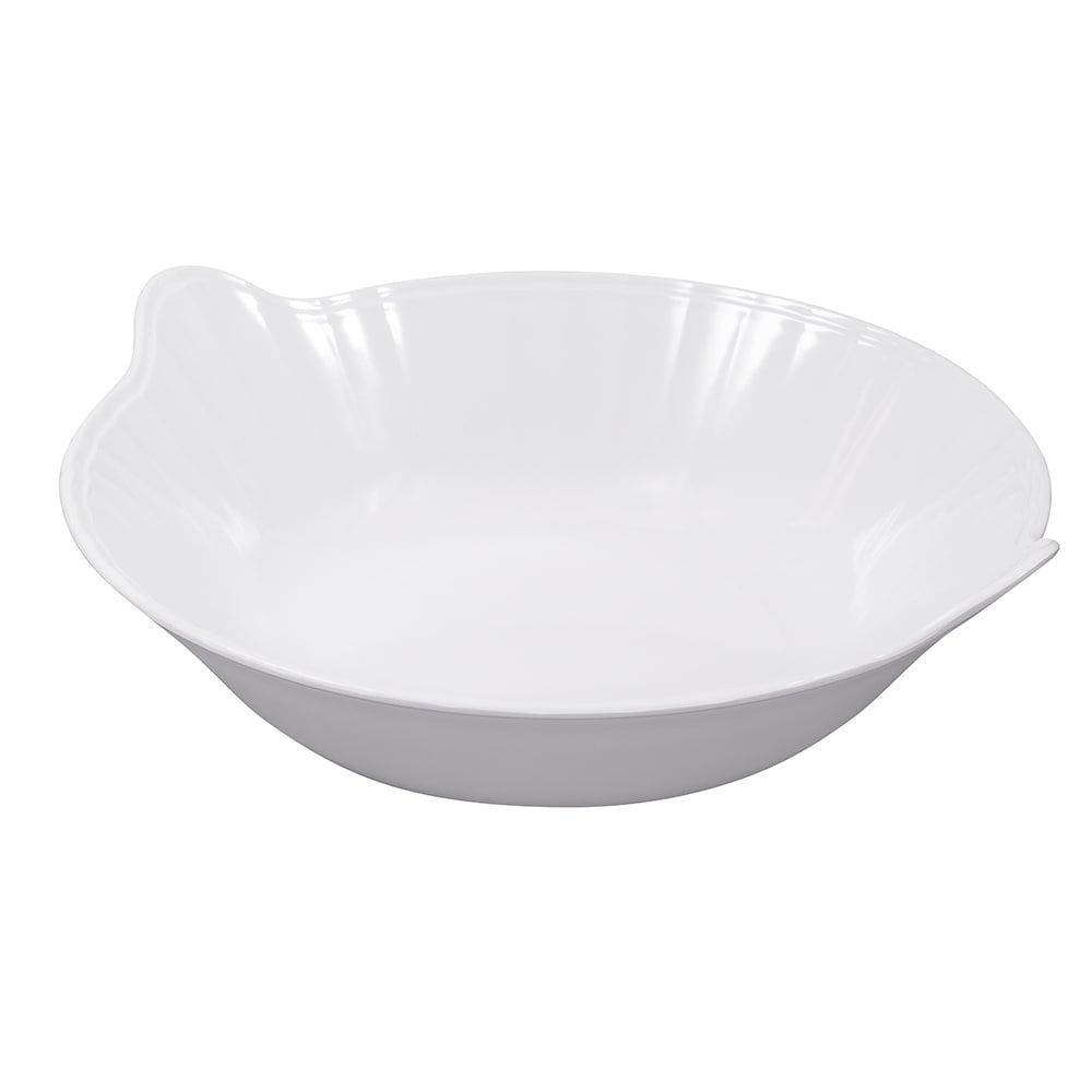 "GET ML-95-W 14"" Round Serving Bowl w/ 4 qt Capacity, Melamine, White"